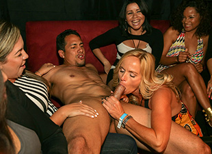 Crazy Party Girls Enjoying Their Male Strippers